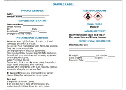 OSHA Updates GHS Labeling of Hazardous Chemicals