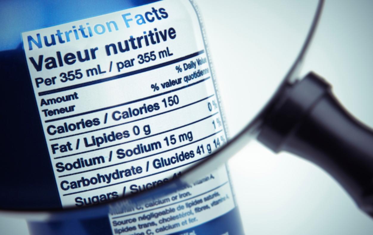 FDA Nutrition Label